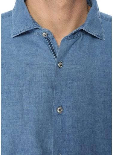 Slowear Uzun Kollu Gömlek Mavi